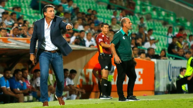 Santos and former manager Robert Siboldi have parted ways after an incident with players in the dressing room.
