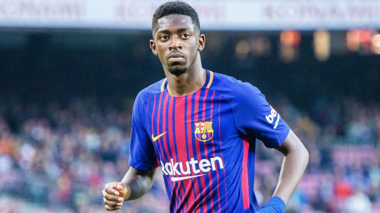 Barcelona's Ousmane Dembele during a La Liga game against Villarreal.