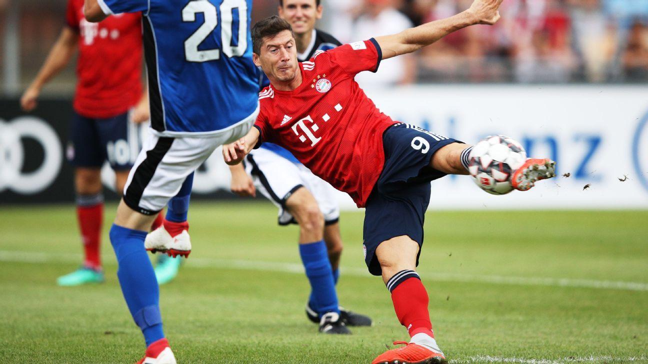 Robert Lewandowski had a hat trick as Bayern Munich scored 20 goals against Rottach-Egern.