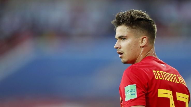 Belgium's Leander Dendoncker during the World Cup group-stage game against England.