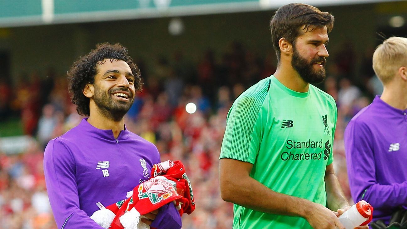 Liverpool's Mohamed Salah and Alisson were both shortlisted for UEFA's Champions League awards