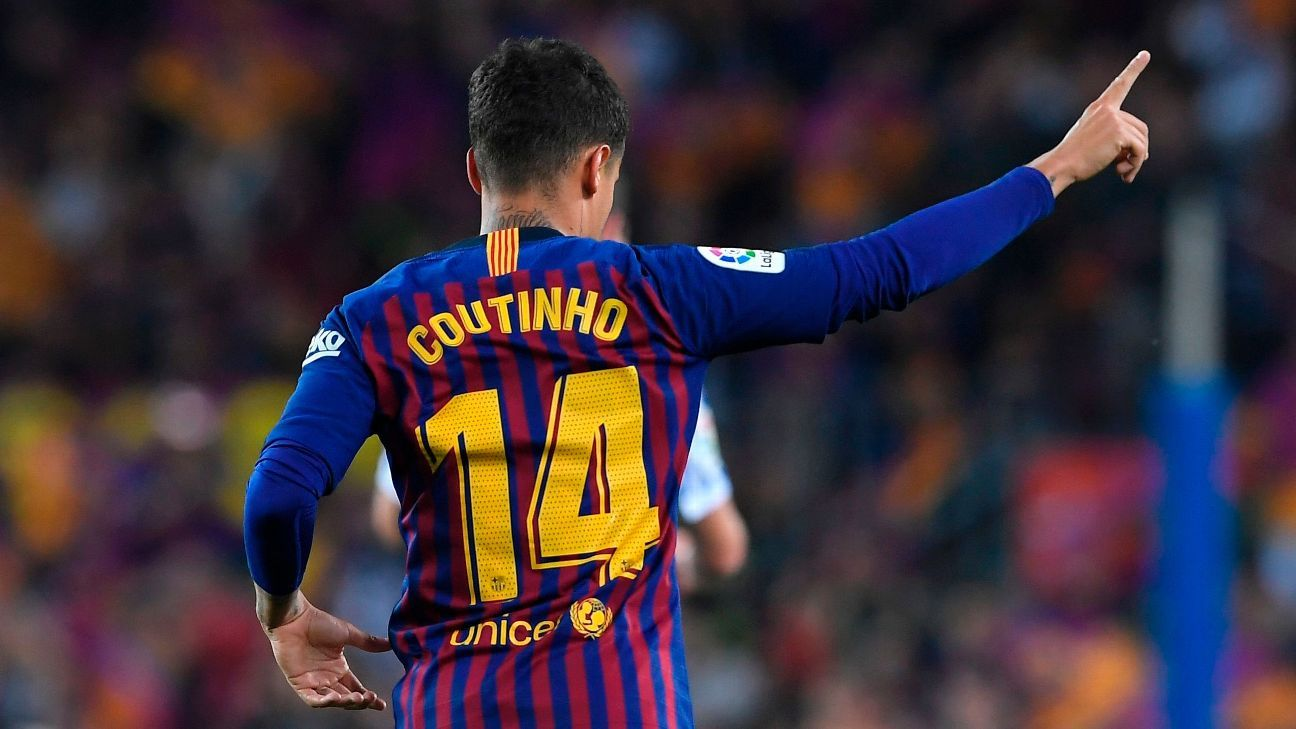 Philippe Coutinho is switching numbers this season.