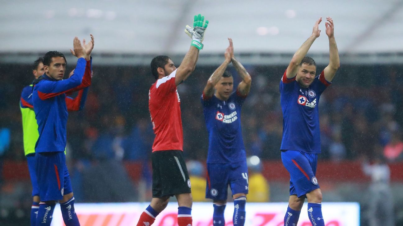 Cruz Azul are unbeaten through three games and new signing Pablo Aguilar (right) is a major reason why.