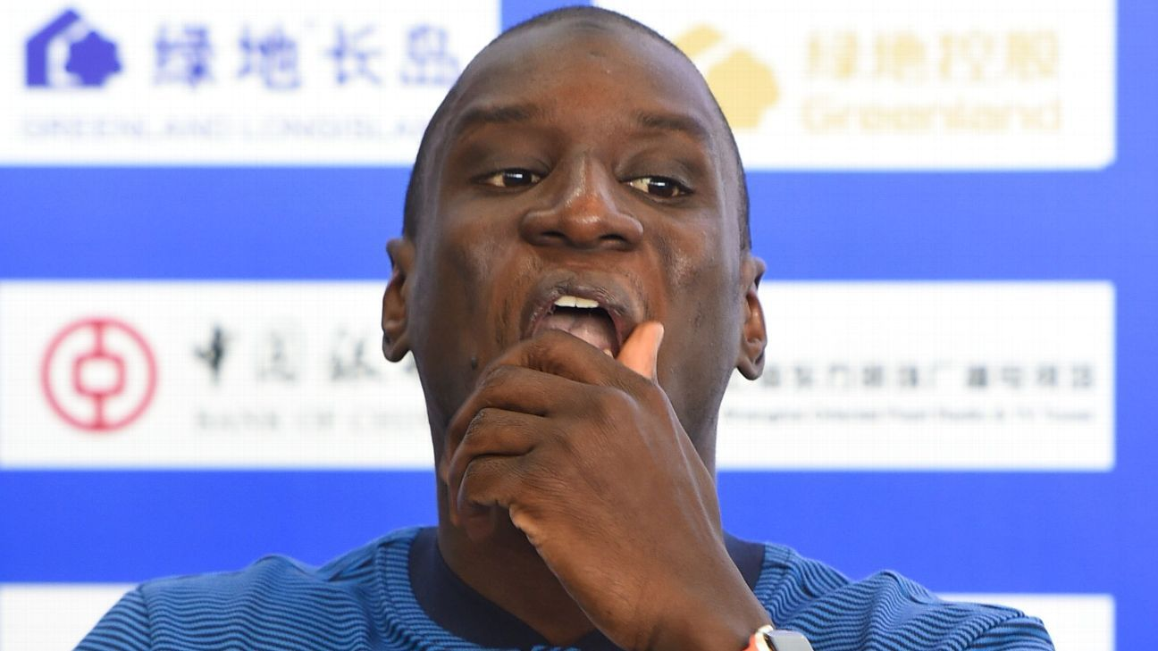 Demba Ba was involved in an altercation with Zhang Li, who has been banned for six matches.
