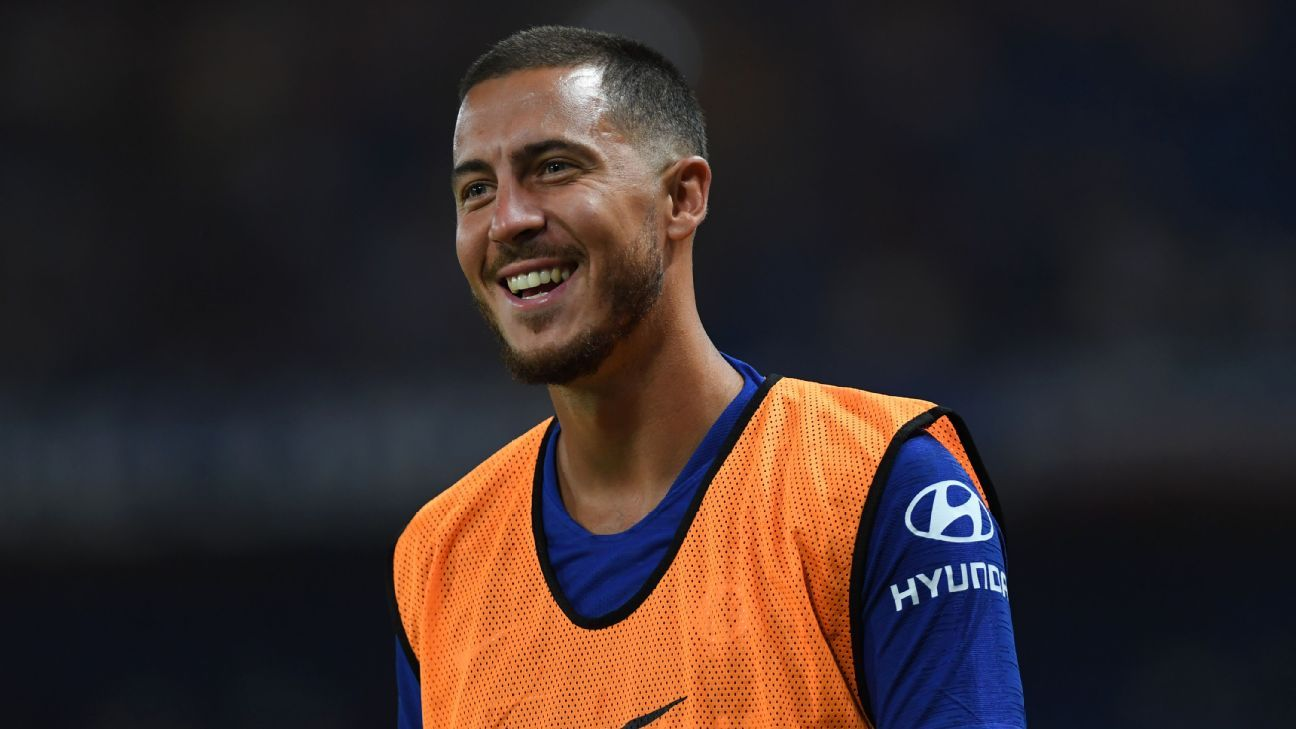 Eden Hazard during Chelsea's preseason game against Lyon.