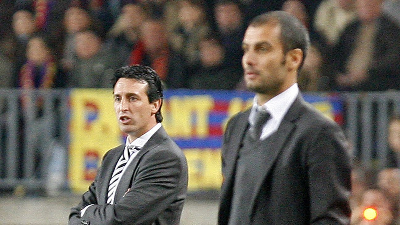 Pep Guardiola and Unai Emery are far from strangers, having managed 10 times against each other in Spain.