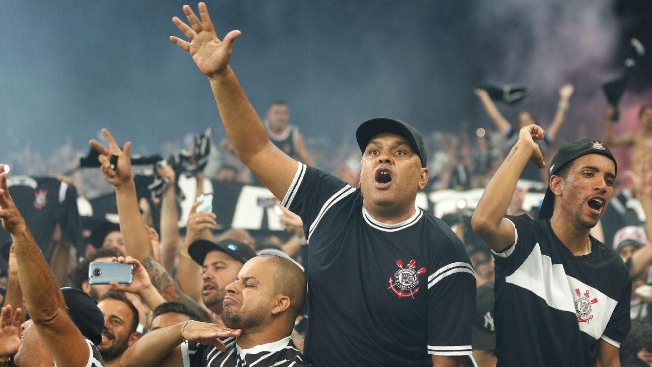 Corinthians fans at a match.
