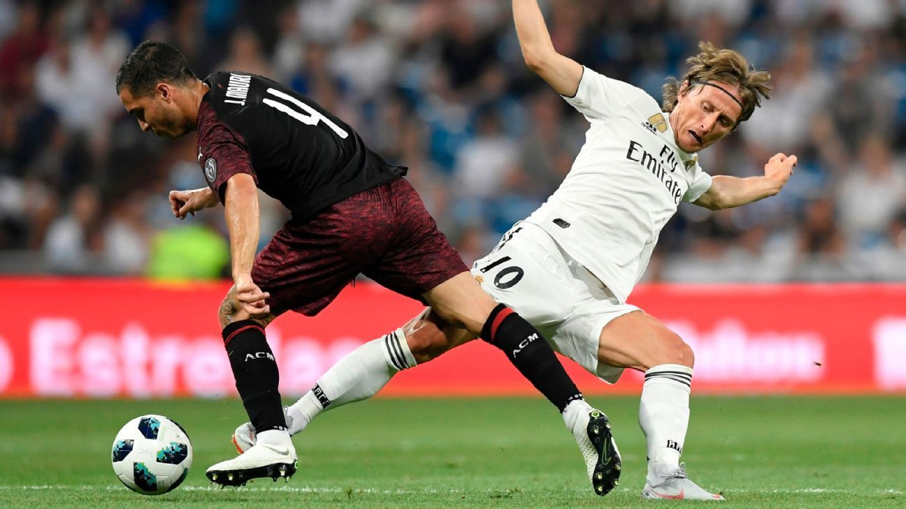 Luka Modric played 15 minutes for Real Madrid against AC Milan.