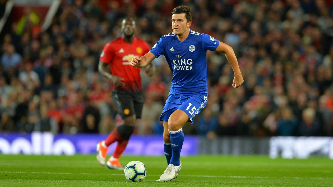 Harry Maguire played for Leicester at Old Trafford after being linked with a move to Manchester United