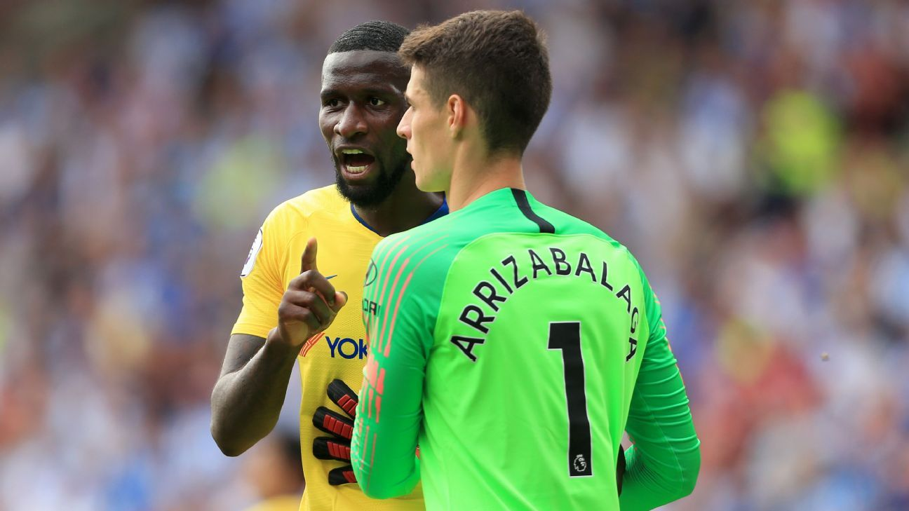 Antonio Rudiger and Kepa Arrizabalaga combined to keep a clean sheet on the latter's Chelsea debut