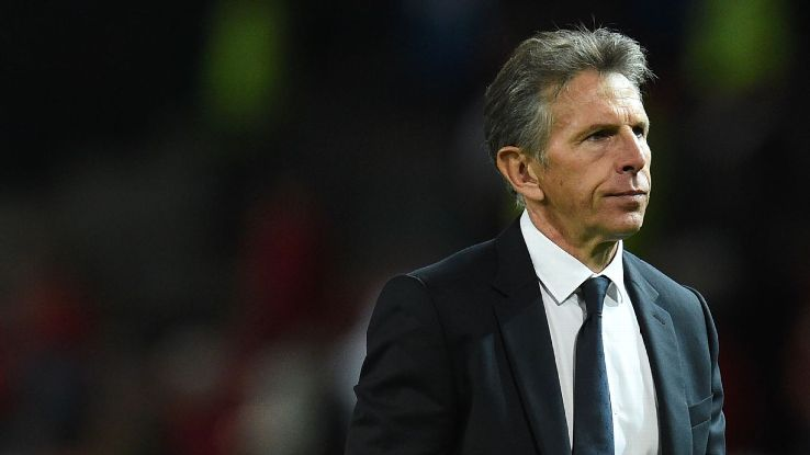 Leicester City manager Claude Puel after a Premier League game against Manchester United.