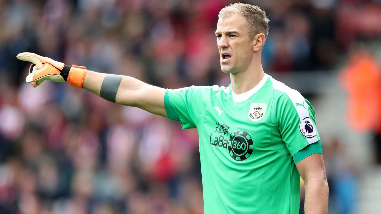 Joe Hart during the Premier League match between Southampton and Burnley.