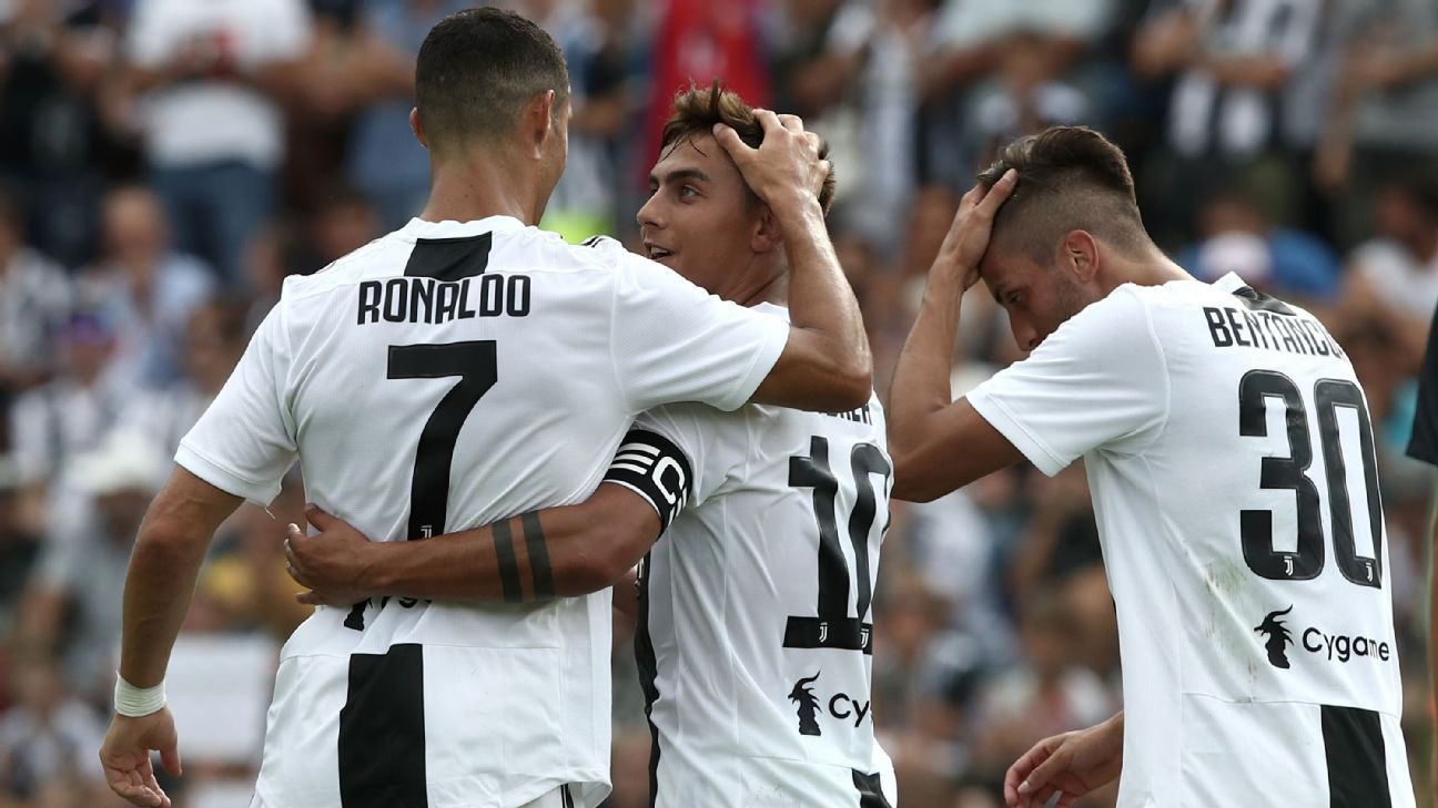 Cristiano Ronaldo played alongside Paulo Dybala in a match for the first time against Juventus B
