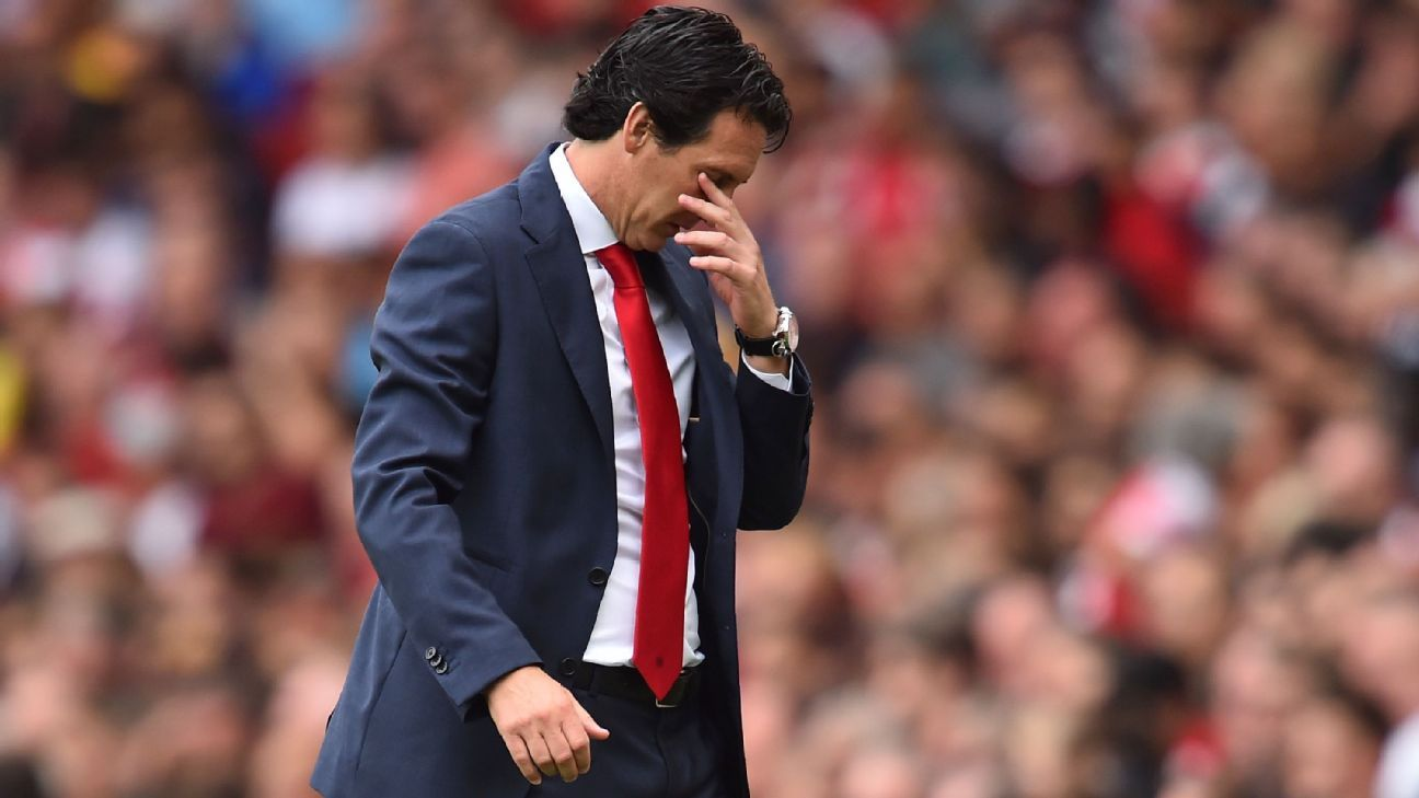 Unai Emery feels the pressure on his Premier League bow as Arsenal boss.