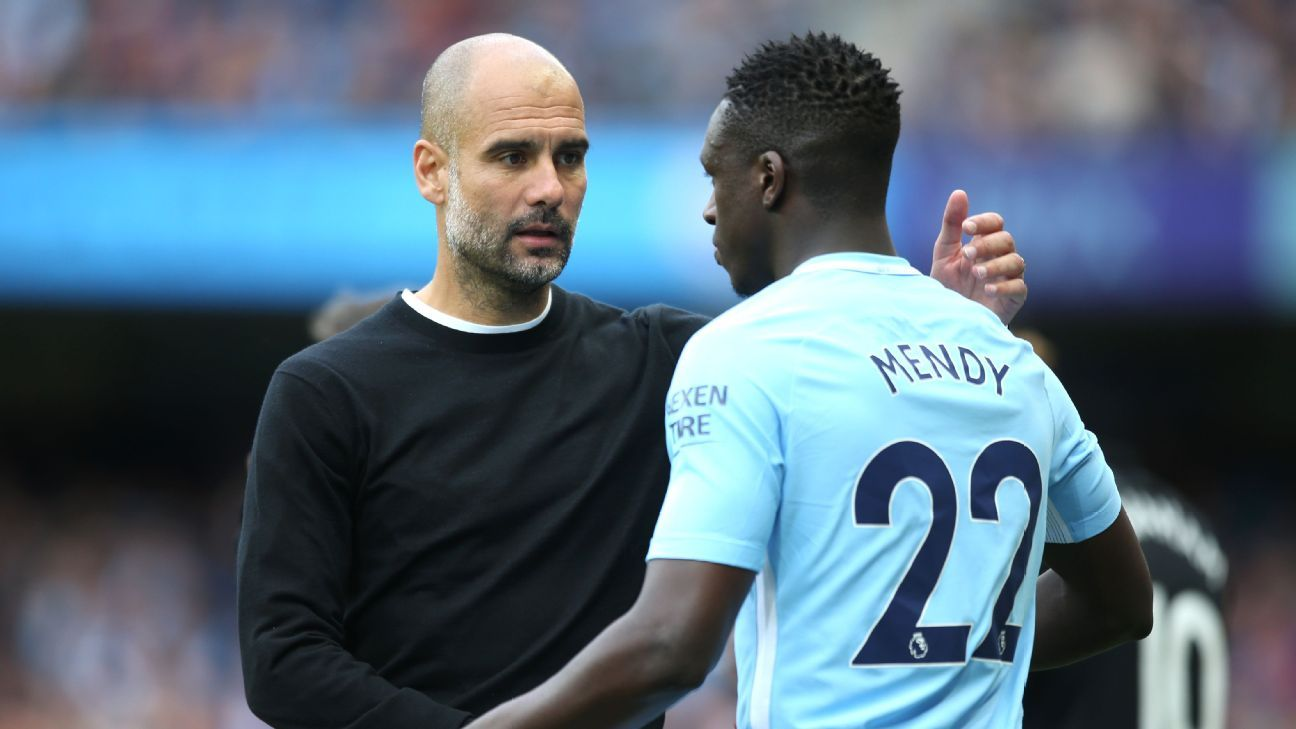 Benjamin Mendy is known for his witty Twitter account but Pep Guardiola is not impressed.
