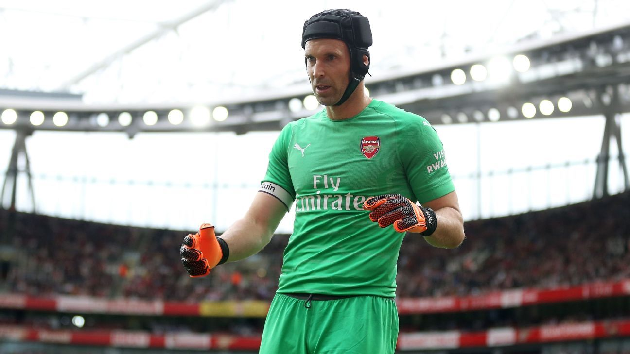 Petr Cech nearly scored an own goal for Arsenal trying to pass out from the back.