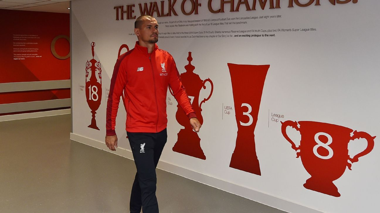 Dejan Lovren returned to Liverpool this month but has been unable to train through injury.