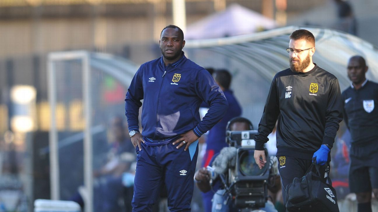 Cape Town City coach Benni McCarthy during the MTN 8 Quarter final match between Maritzburg United and Cape Town City on the 12 August 2018 at the Harry Gwala Stadium.