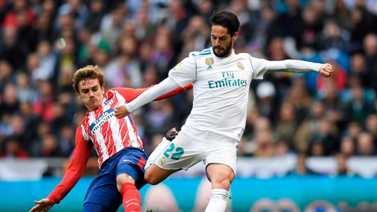 Antoine Griezmann is still the main man for Atletico Madrid but with Cristiano Ronaldo gone, Isco needs to step up for Real Madrid.