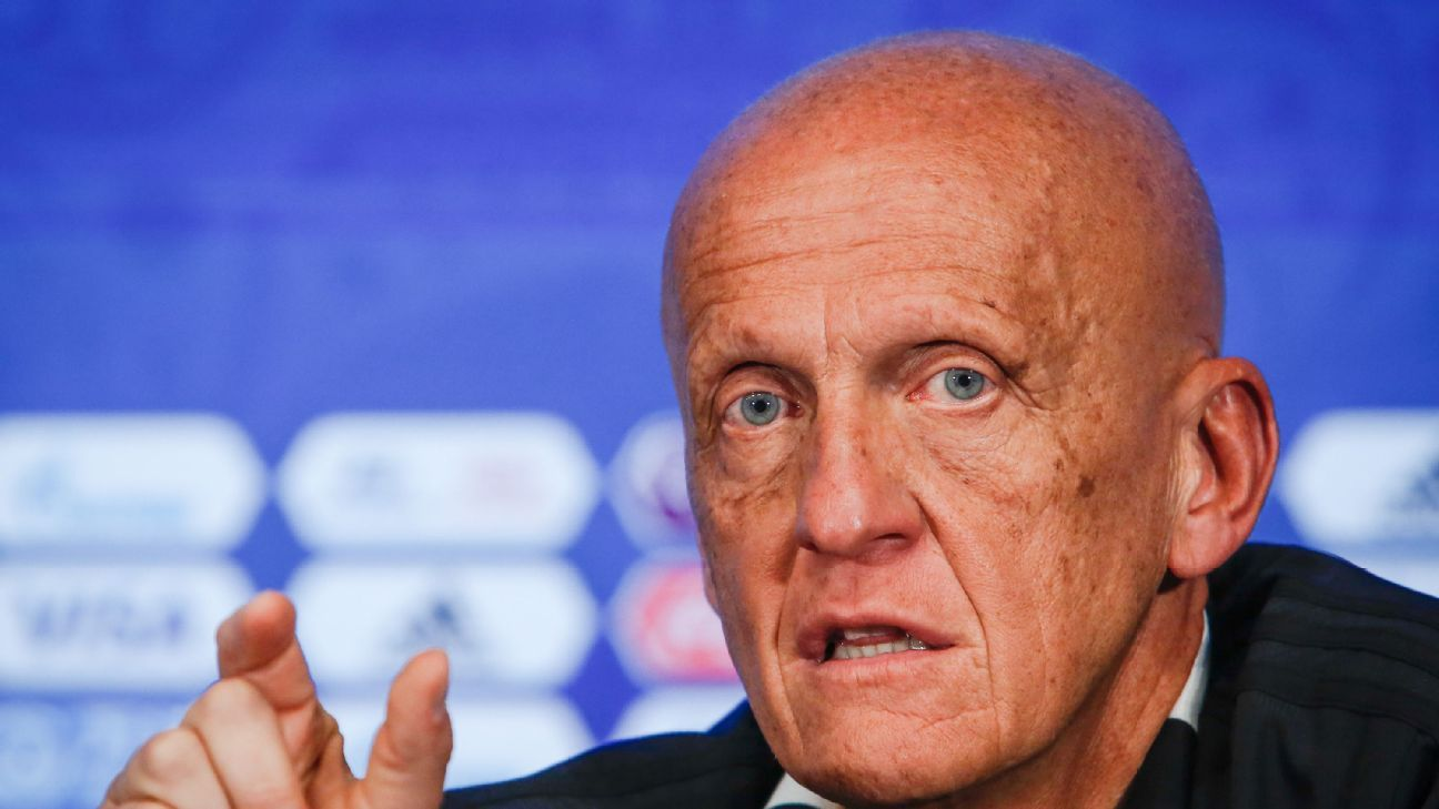 Pierluigi Collina was in charge of referees at the 2018 World Cup.