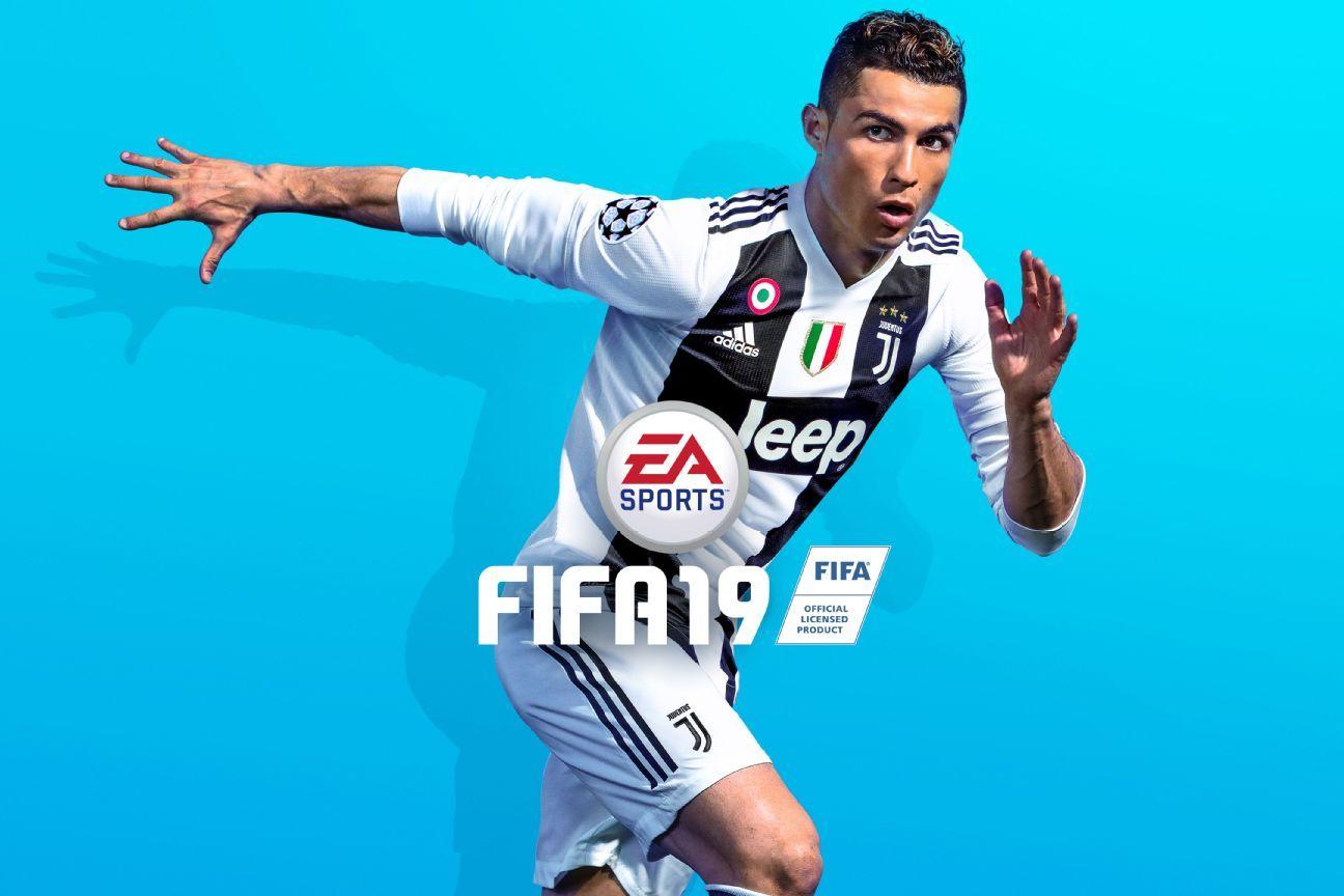 Cristiano Ronaldo graces the cover of FIFA 19.