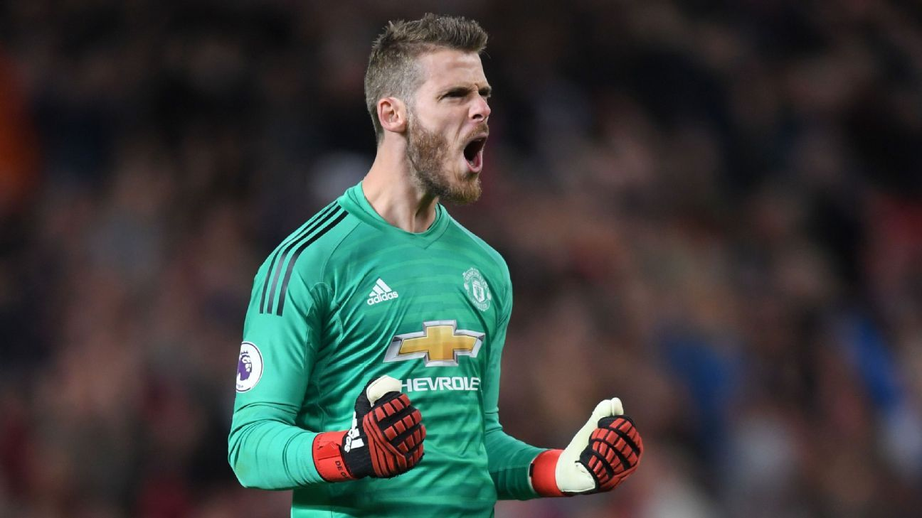 De Gea has been the established No. 1 at Manchester United since 2011.