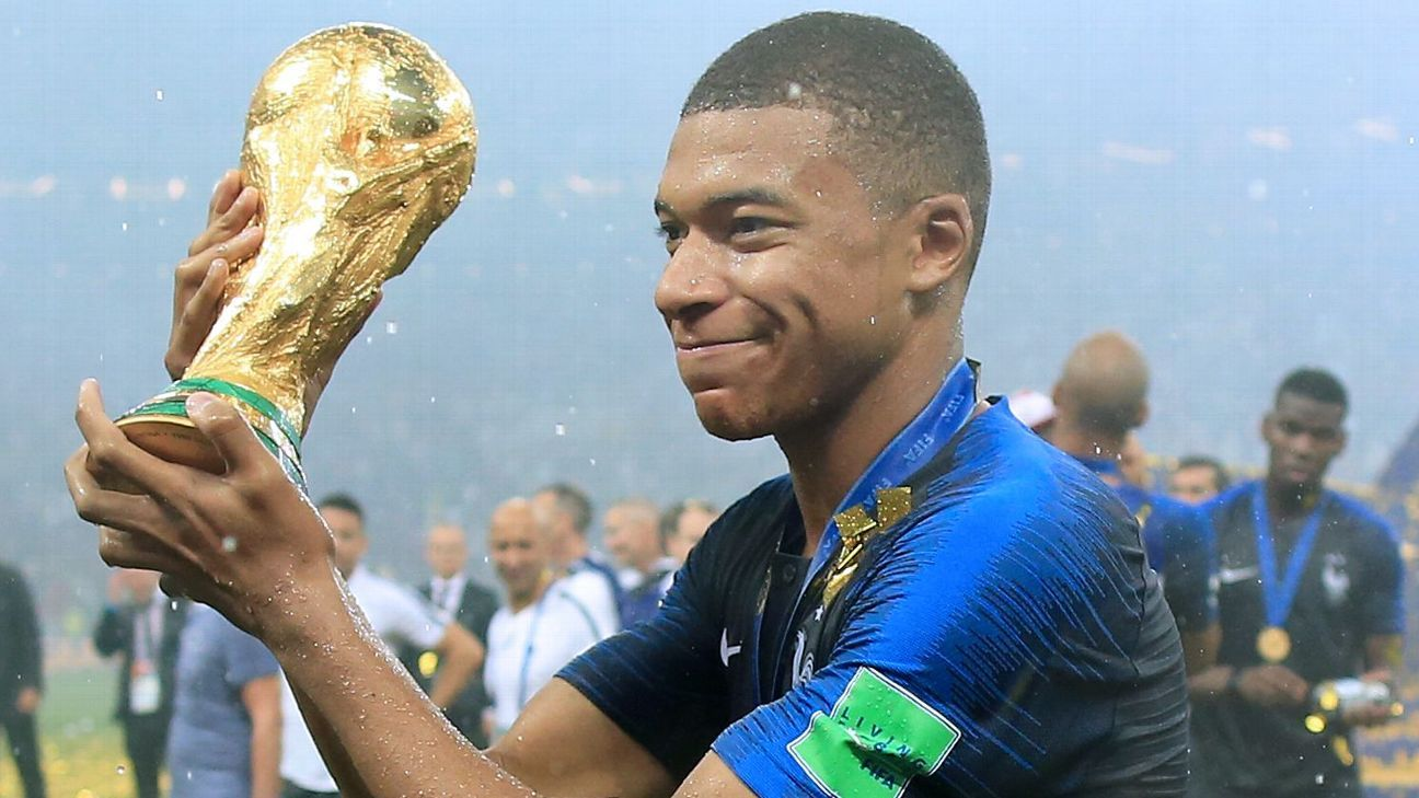 Kylian Mbappe scored four goals for France at the 2018 World Cup, including one in the final