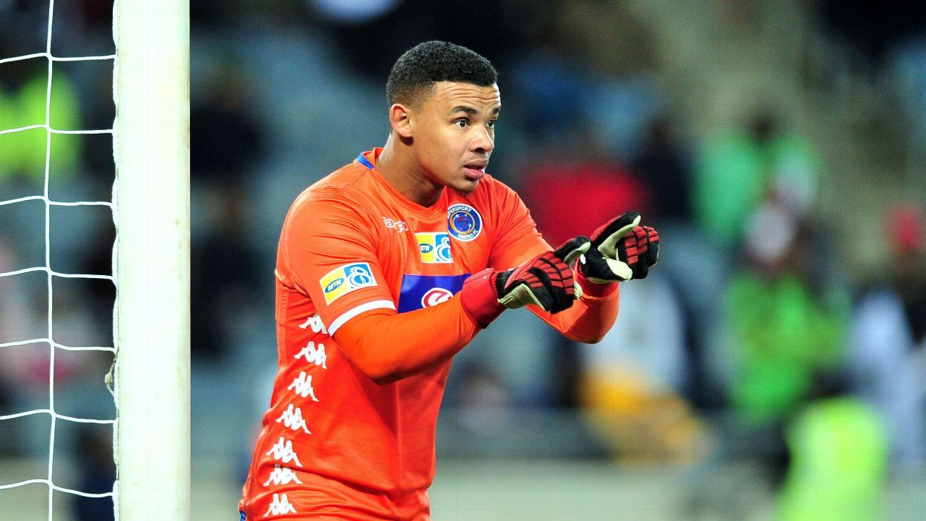 At just 26, Ronwen Williams holds SuperSport United's appearance record