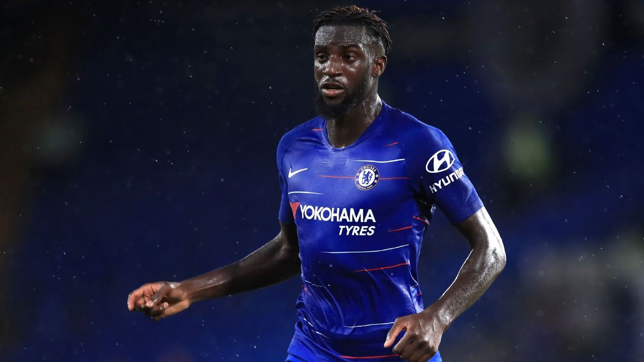 Tiemoue Bakayoko looks on during Chelsea's International Champions Cup match vs. Lyon.