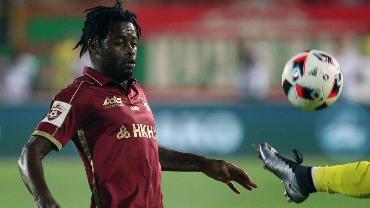 Alex Song left Rubin Kazan in January amid a dispute over unpaid wages.