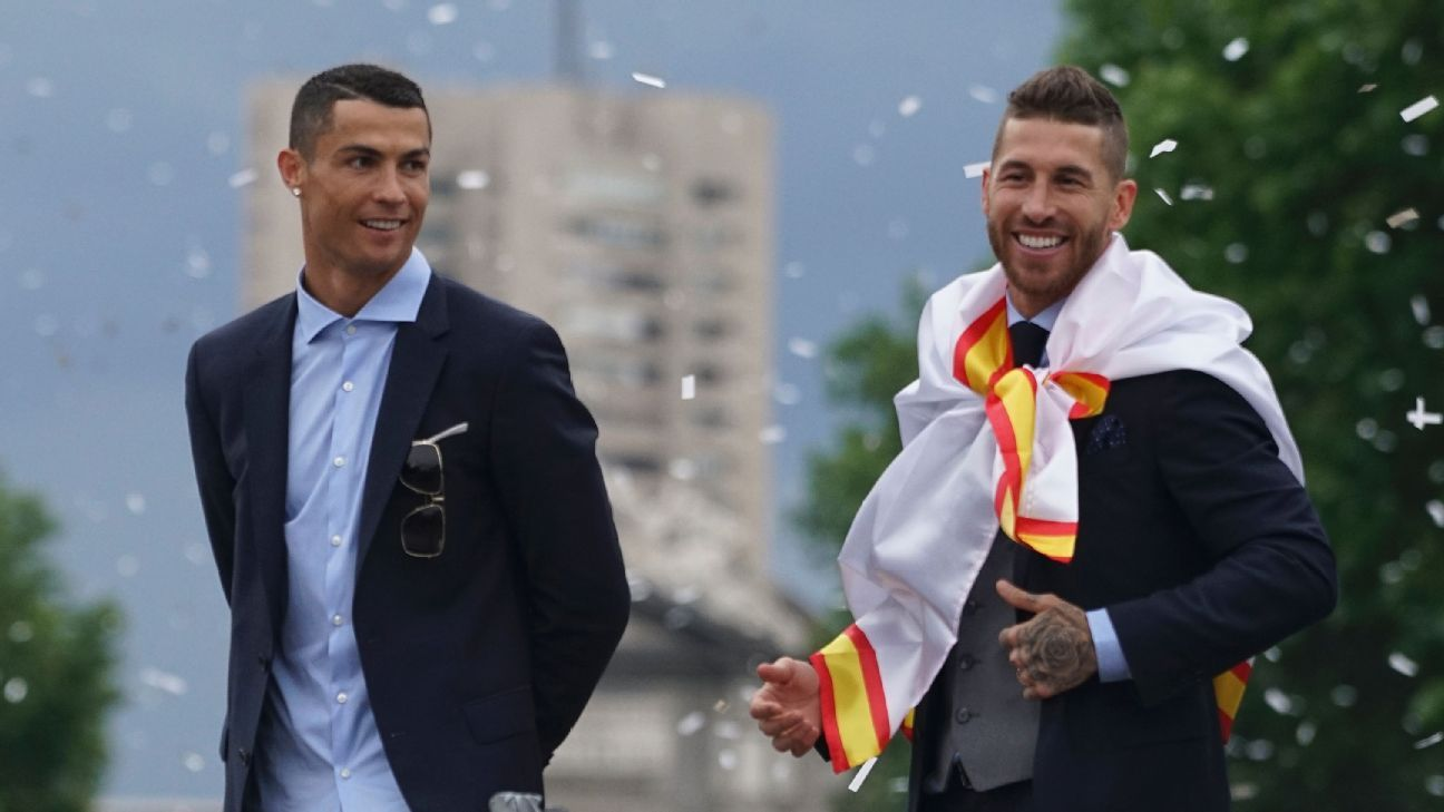 Cristiano Ronaldo and Sergio Ramos won four Champions League together at Real Madrid