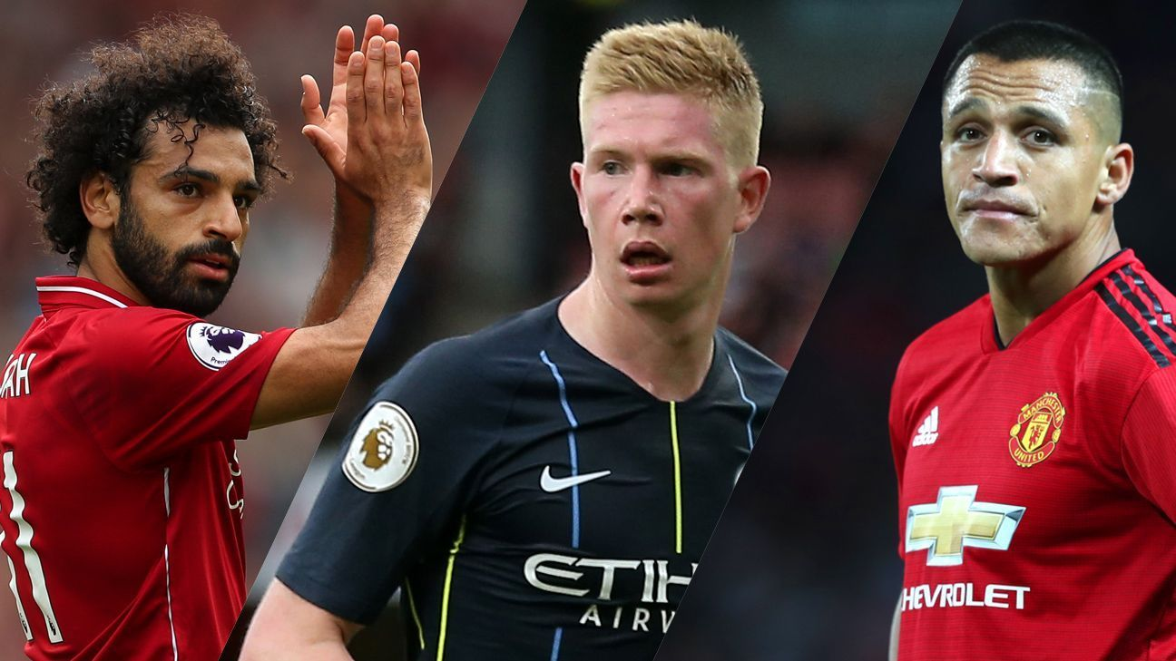 Mohamed Salah, Kevin De Bruyne and Alexis Sanchez are all key for their clubs.