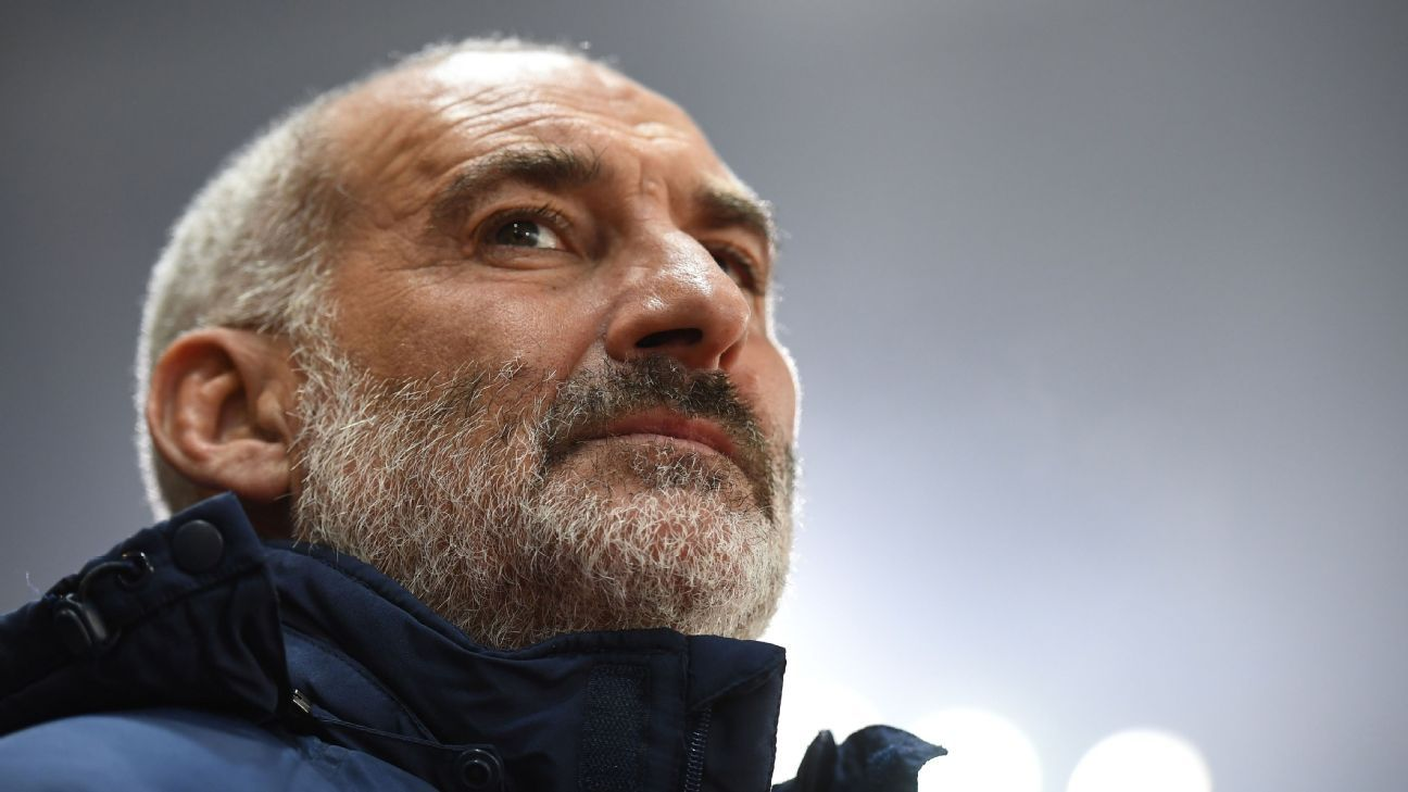 Former Bastia coach Francois Ciccolini during a Ligue 1 game against Rennes.