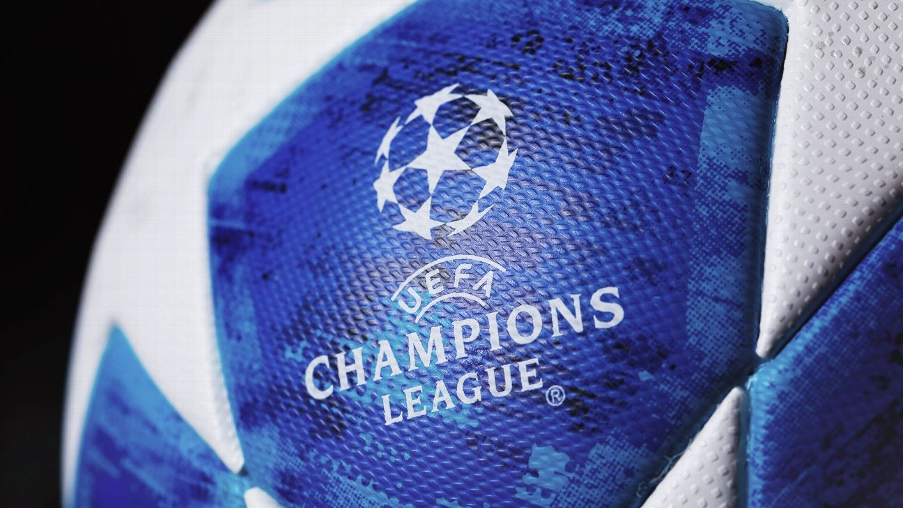 The Champions League 2018-19 match ball features blue panels to match the tournament's branding