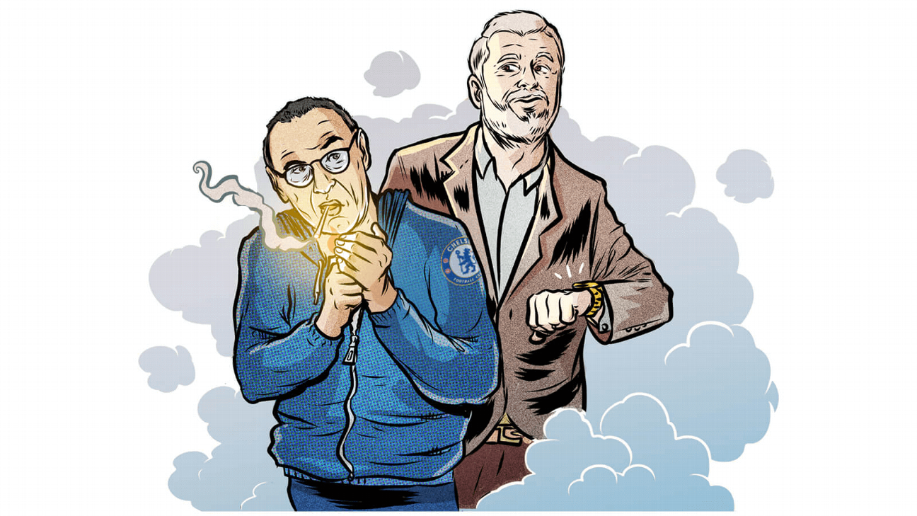 Maurizio Sarri faces a tough task to keep Roman Abramovich happy.