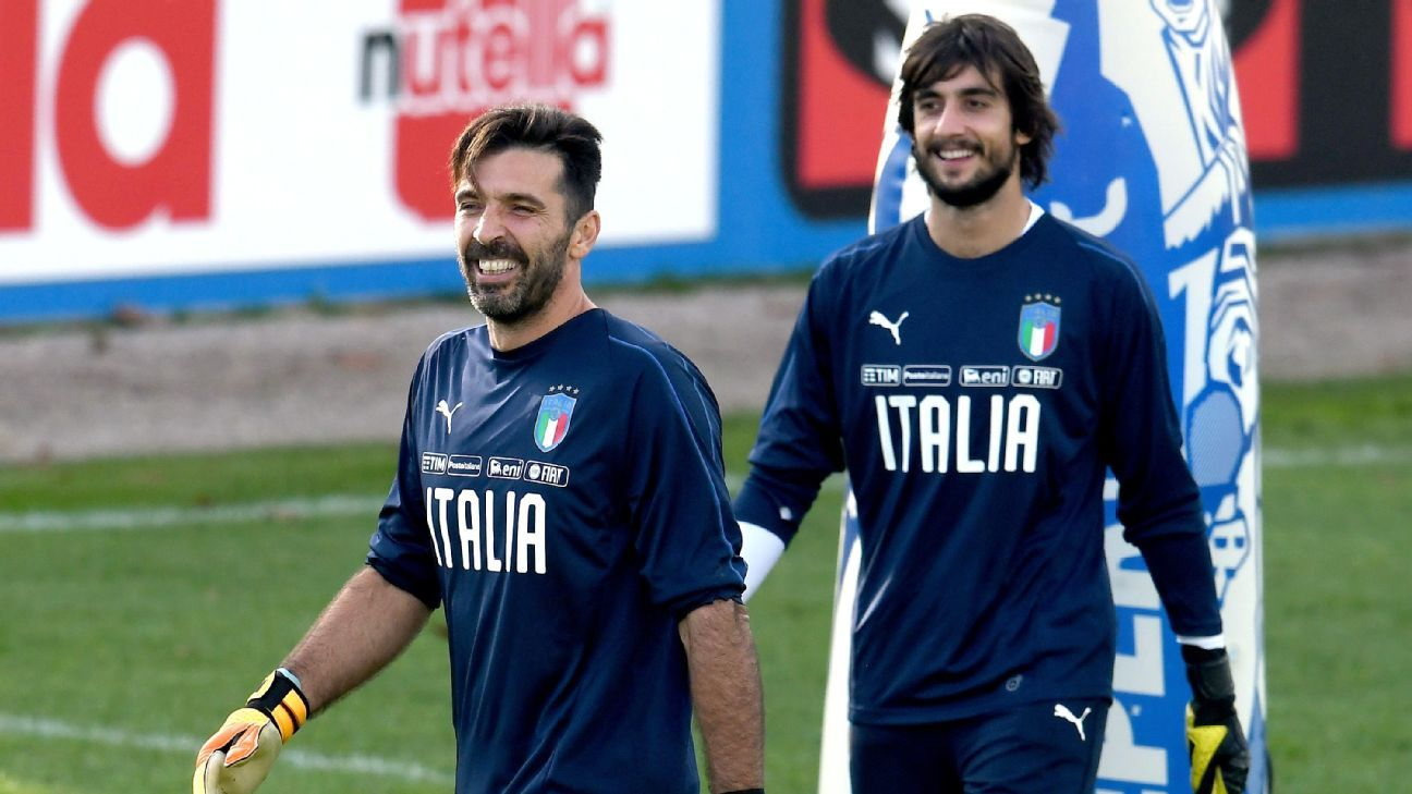Mattia Perin aims to emulate Gianluigi Buffon for Juventus and Italy.