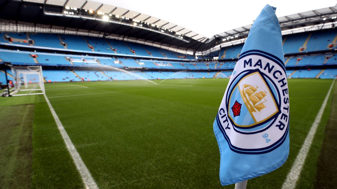 The Etihad Stadium in Manchester, England, home of Manchester City.