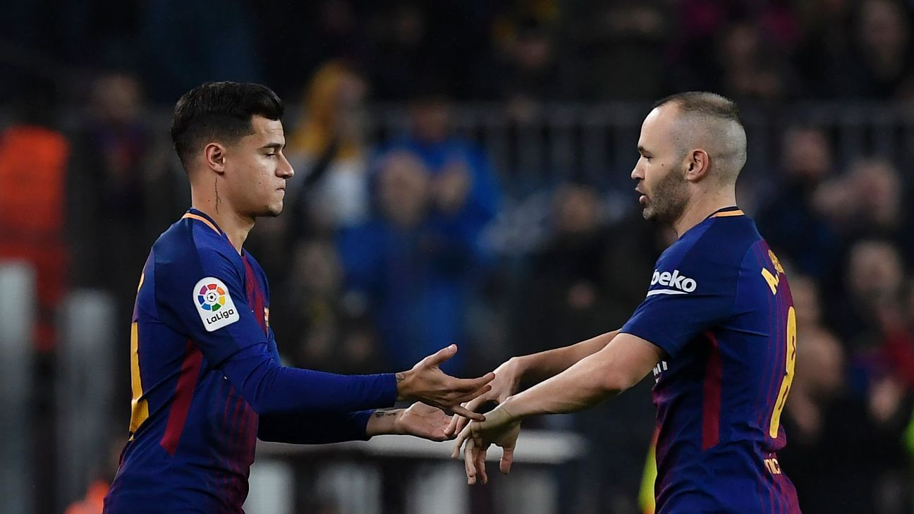 Those who see Philippe Coutinho as a direct replacement for Andres Iniesta are missing the point, writes Graham Hunter.