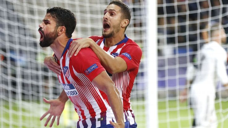 With two goals, Diego Costa was the star man in Atletico Madrid's Super Cup triumph.