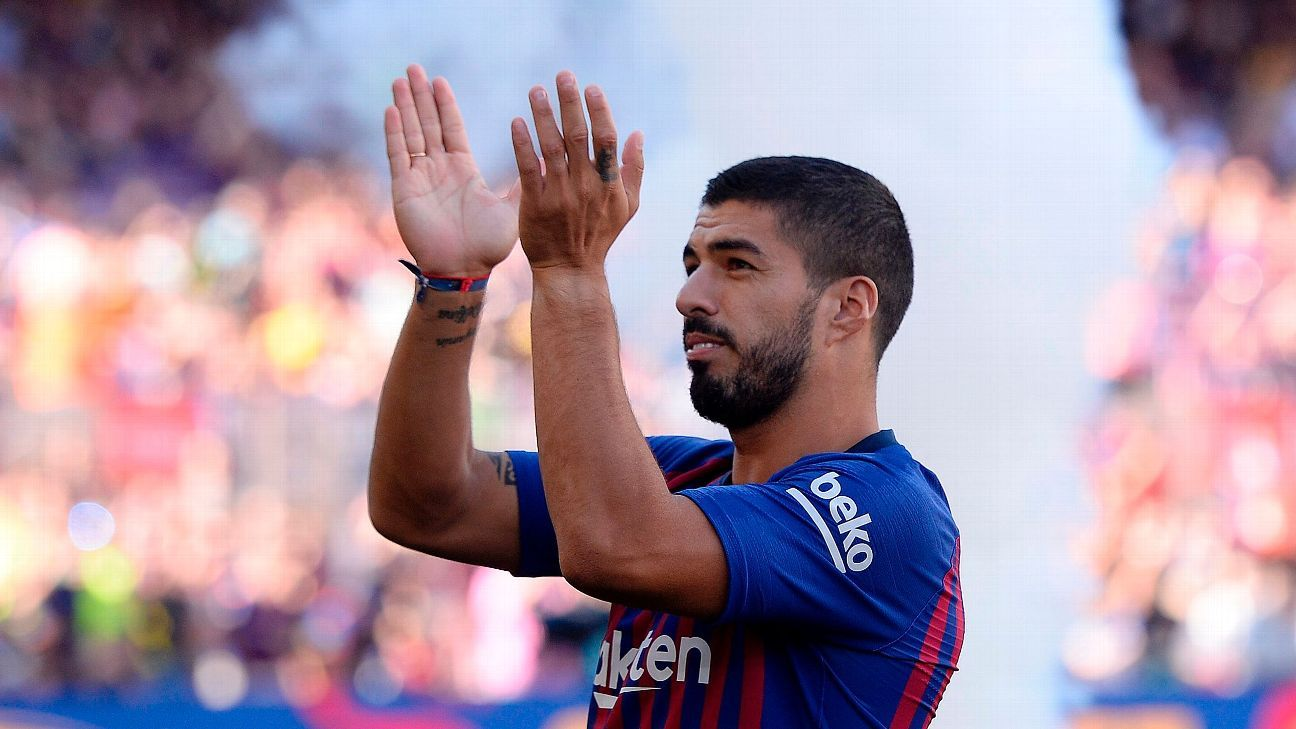 Luis Suarez at the 53rd Joan Gamper Trophy match.