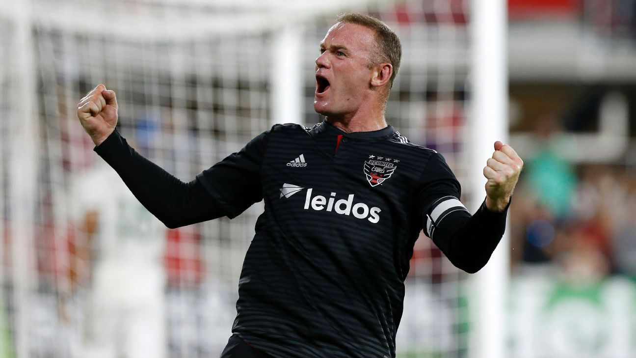 Wayne Rooney scored his first just before halftime, and his second after the hour mark.