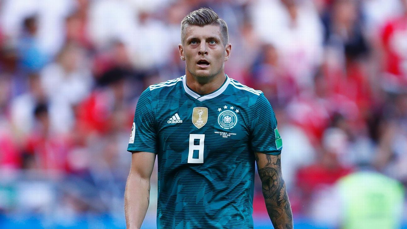 Germany's Toni Kroos during the World Cup game against South Korea.