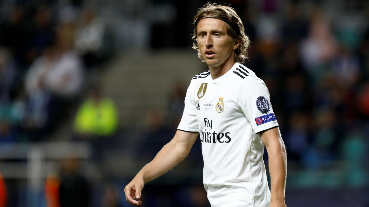 Real Madrid's Luka Modric during the UEFA Super Cup against Atletico Madrid.