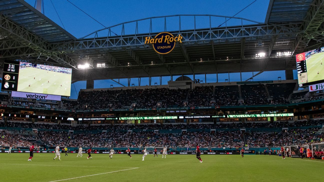 Real Madrid faced Manchester United at Hard Rock Stadium in July.