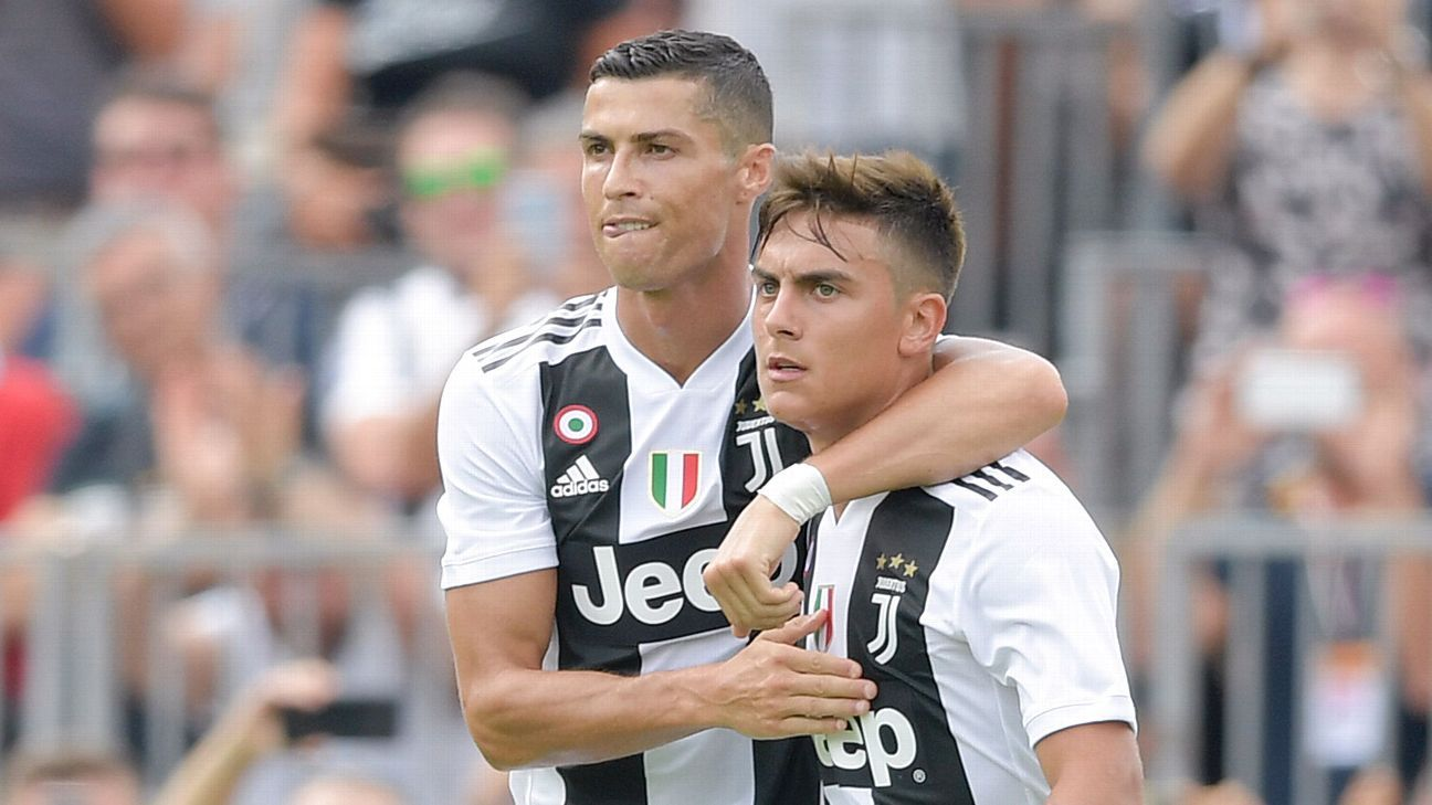 Cristiano Ronaldo and Paulo Dybala played their first match together for Juventus at Villar Perosa