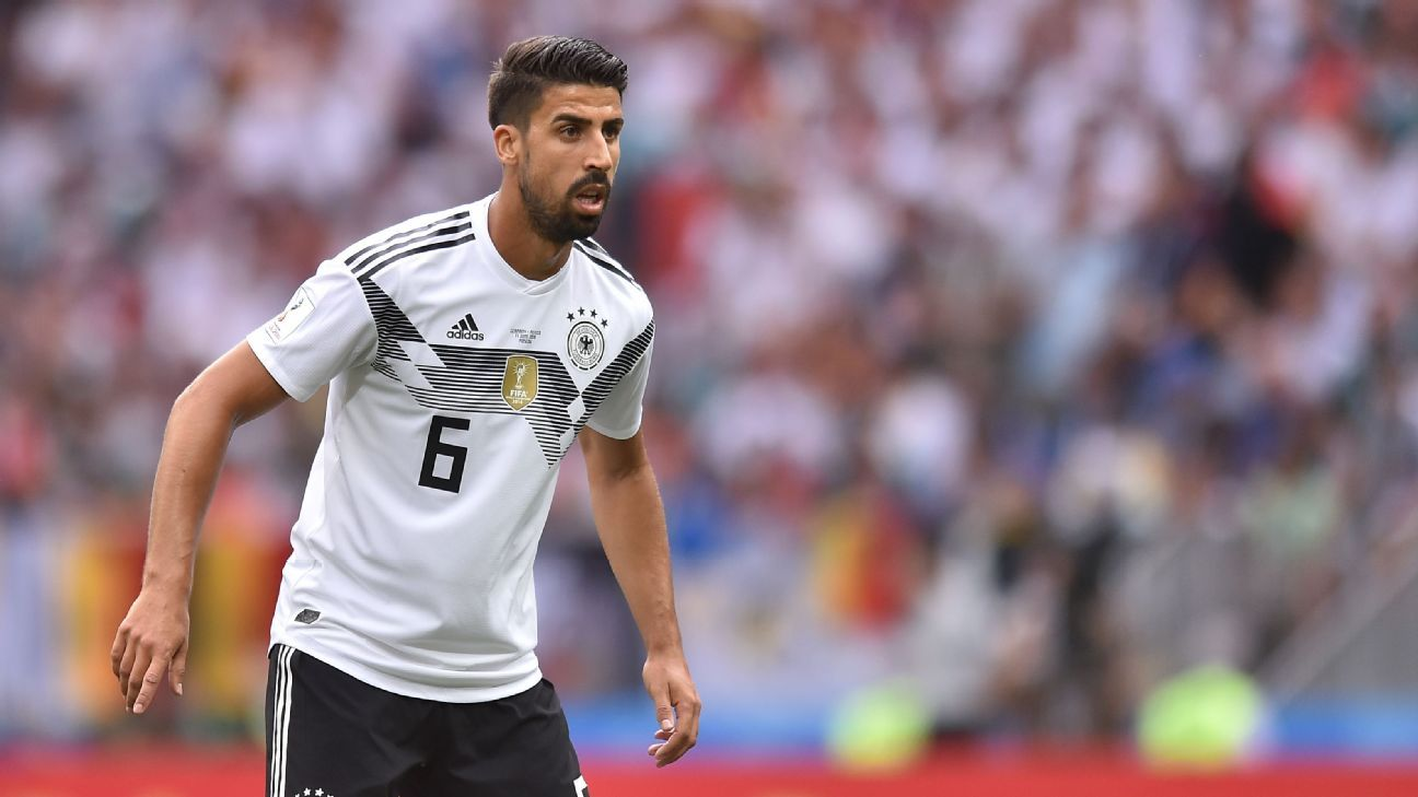 Germany's Sami Khedira during the World Cup game against Mexico.