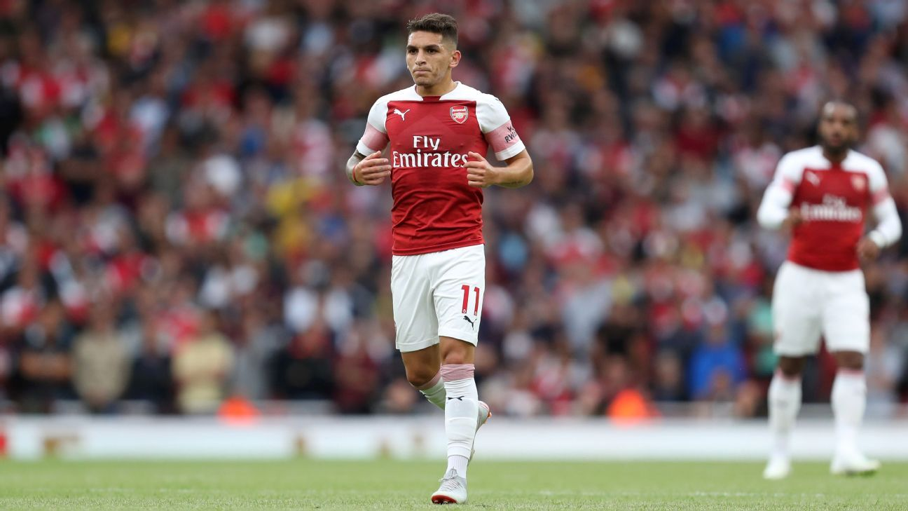 Lucas Torreira made his Arsenal debut in their 2-0 loss to Manchester City.