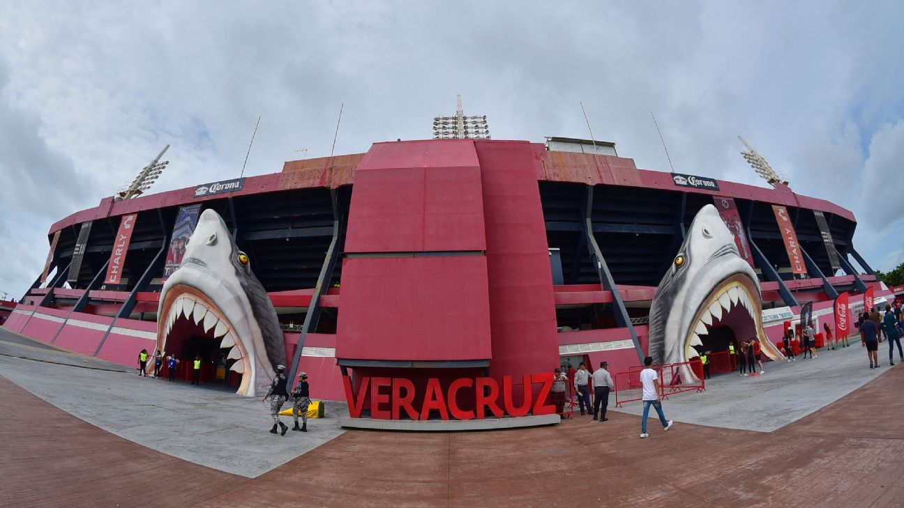 View of the stadium of Liga MX club Veracruz.