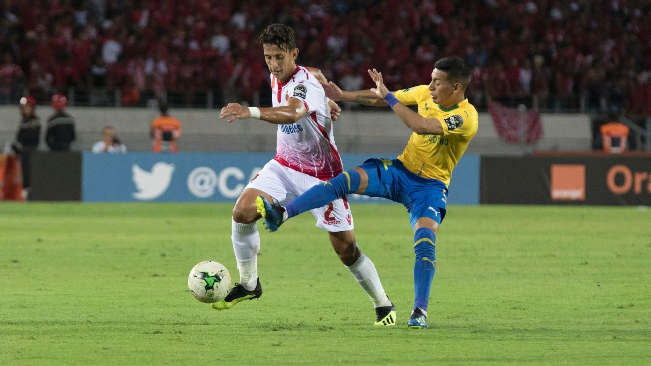 Wydad Casablanca rightback Anas Al Asbah got the better of Gaston Sirino before blasting home the winner against Mamelodi Sundowns, which sealed the Moroccan side's CAF Champions League progress