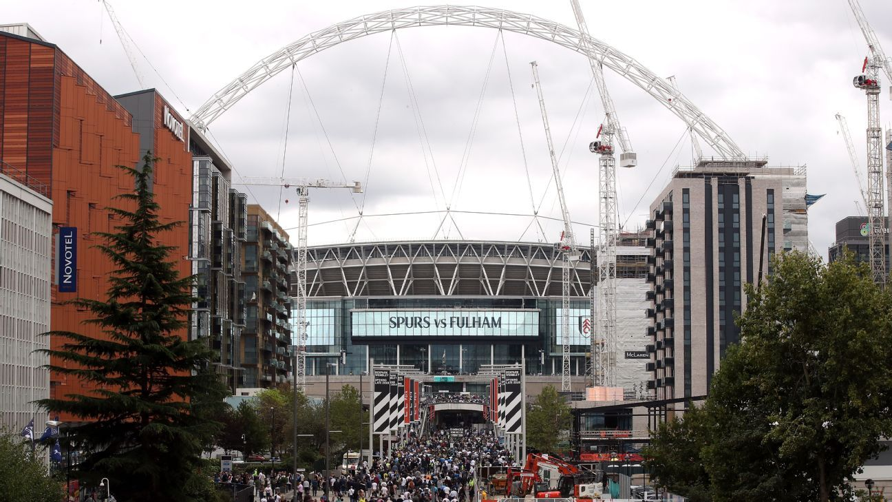 Tottenham have had to move games to Wembley this season due to construction delays at their new stadium.